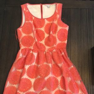 Lauren Conrad Coral Sunflower Dress